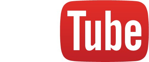 YouTube logo full color white